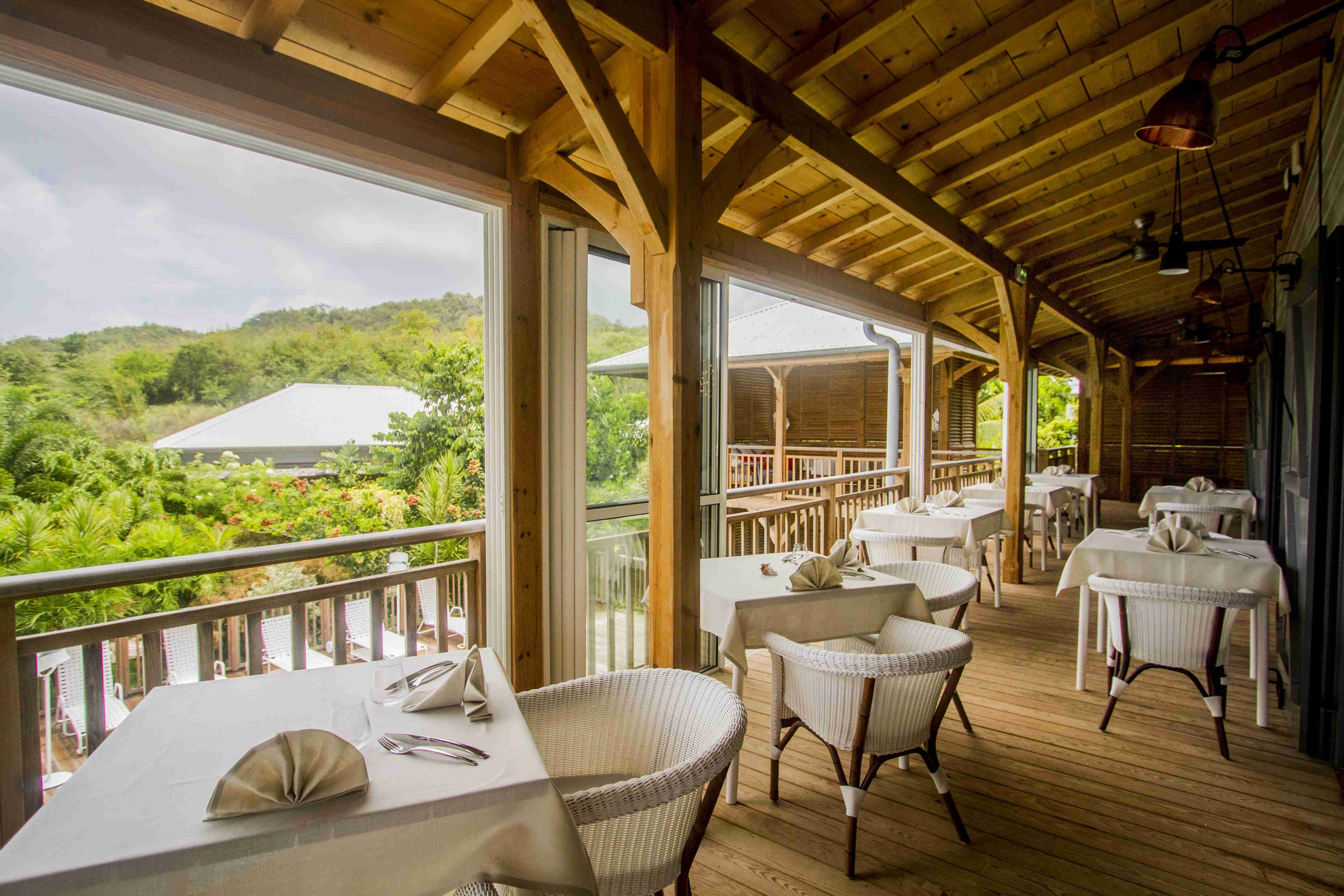 Restaurant french coco for Boutique hotel martinique